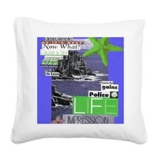 clean16x20blue Square Canvas Pillow