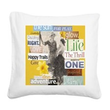 destiny16x20yellow Square Canvas Pillow