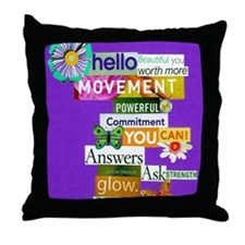 beautifulyou16x20purp Throw Pillow