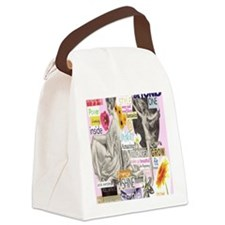 wakeup16x20pink Canvas Lunch Bag