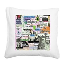 abuse16x20pink Square Canvas Pillow