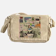 abuse16x20pink Messenger Bag