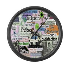 abuse16x20pink Large Wall Clock
