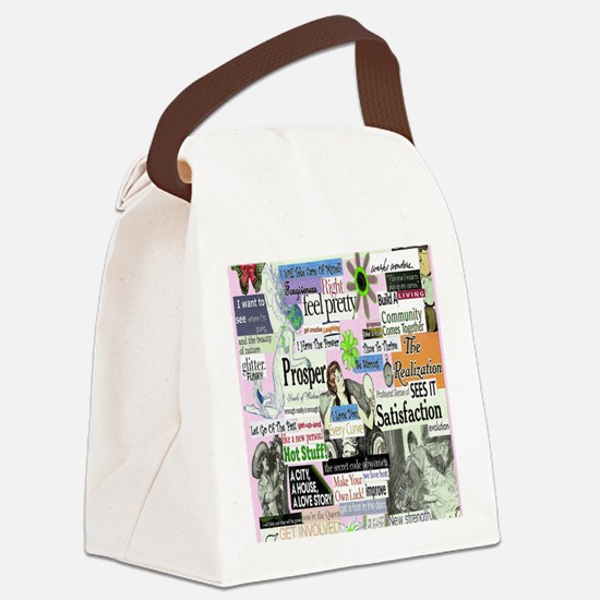 abuse16x20pink Canvas Lunch Bag