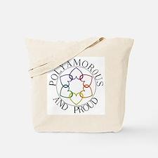 Poly and Proud circle logo Tote Bag