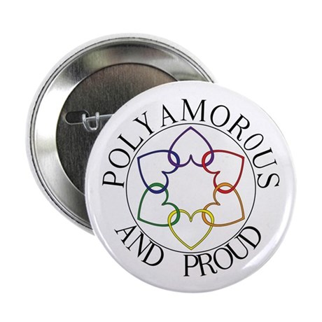 "Poly and Proud circle logo 2.25"" Button (10 pack)"