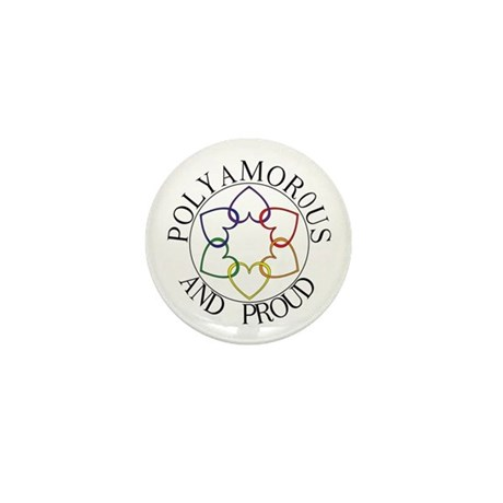 Poly and Proud circle logo Mini Button (100 pack)