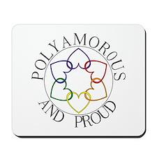 Poly and Proud circle logo Mousepad