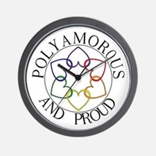 Poly and Proud circle logo Wall Clock