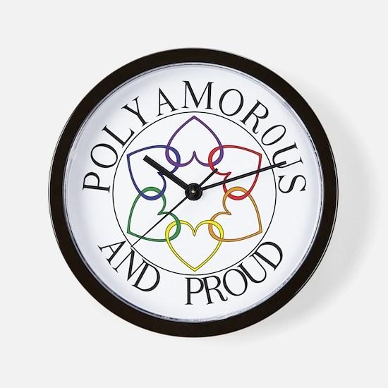 Poly and Proud circle logo Wall Clock