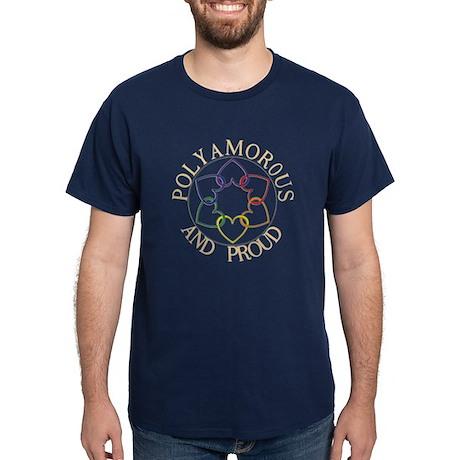 Poly and Proud circle logo Dark T-Shirt