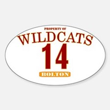 Wildcats 14 Oval Decal