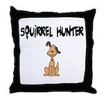 Squirrel Hunter Throw Pillow