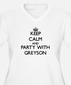 Keep Calm and Party with Greyson Plus Size T-Shirt