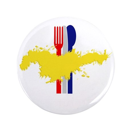 "Mustard B 3.5"" Button"