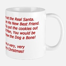 Santa Claus Puppy Card Verse Mug