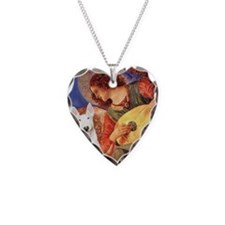Angel with Mandolin - Bull Te Necklace Heart Charm