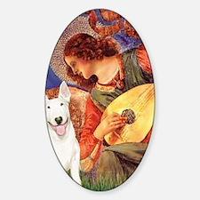 Angel with Mandolin - Bull Terrier  Sticker (Oval)