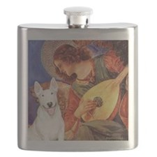 Angel with Mandolin - Bull Terrier 4 Flask