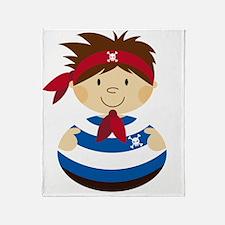 Pirate Boy Tee 1 Throw Blanket