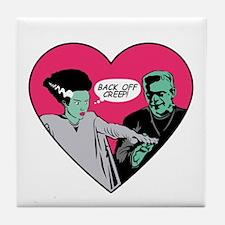 Creepy Valentine Tile Coaster