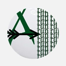 XC Run Green Black Round Ornament