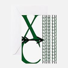 XC Run Green Black Greeting Card