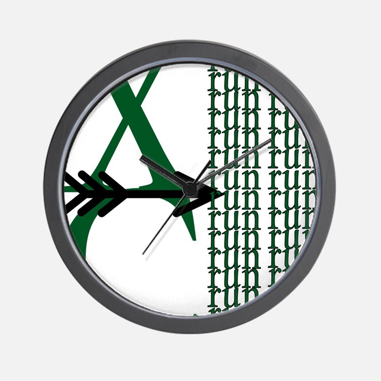XC Run Green Black Wall Clock