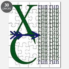 XC Run Green Blue Puzzle
