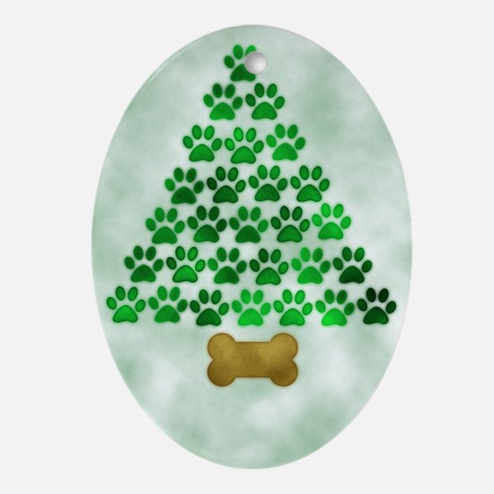 paws_christmas_572 Oval Ornament