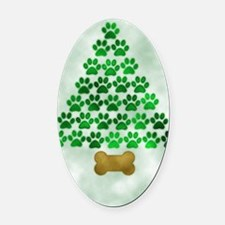 paws_christmas_572 Oval Car Magnet