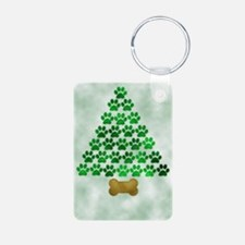 paws_christmas_572 Aluminum Photo Keychain