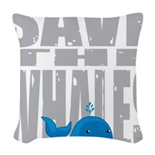 Save-the-Whales Woven Throw Pillow