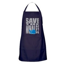 Save-the-Whales Apron (dark)