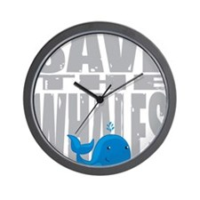 Save-the-Whales Wall Clock
