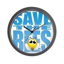 Save-the-Bees Wall Clock