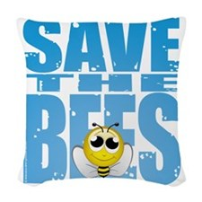 Save-the-Bees Woven Throw Pillow