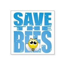 """Save-the-Bees Square Sticker 3"""" x 3"""""""