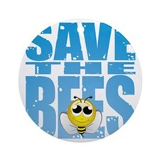 Save-the-Bees Round Ornament