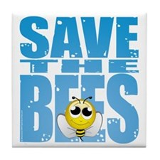 Save-the-Bees Tile Coaster
