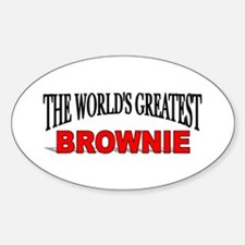 """The World's Greatest Brownie"" Oval Decal"