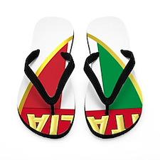 italy-shield Flip Flops
