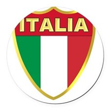 italy-shield Round Car Magnet