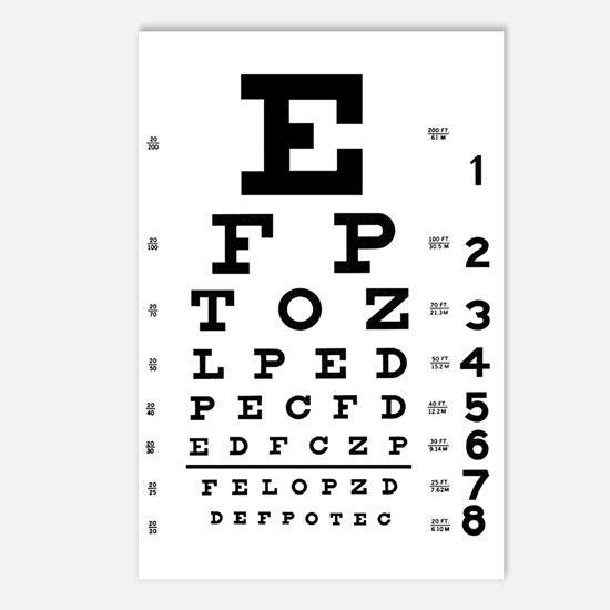 eyechart_full_page Postcards (Package of 8)
