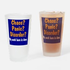 chaos-panic-disorder_rnd Drinking Glass