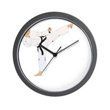 taekwondo a(blk) Wall Clock