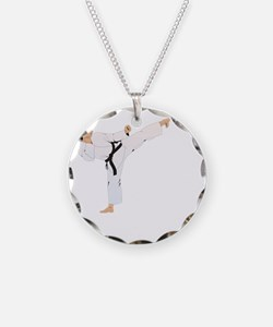 taekwondo a(blk) Necklace