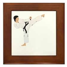 taekwondo a(blk) Framed Tile