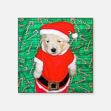 """Santa Claus Funny Golden Re Square Sticker 3"""" x 3"""""""