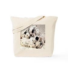 Dalmation tile coaster Tote Bag